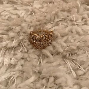 J. Crew Gold Feather Ring